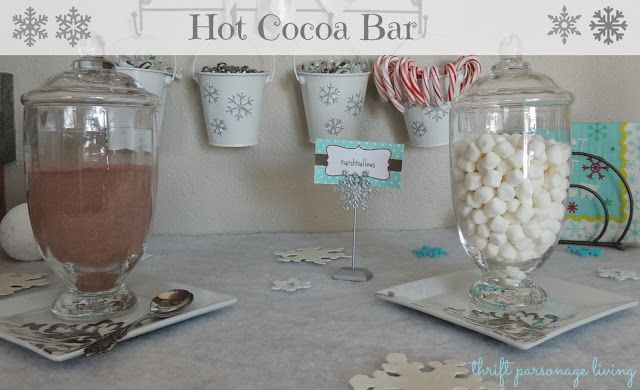 Thrifty Parsonage Living: HOT COCOA BAR