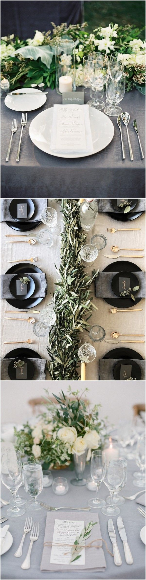 Wedding room decoration ideas 2018  Trending Elegant Green and Grey Wedding Color Ideas for