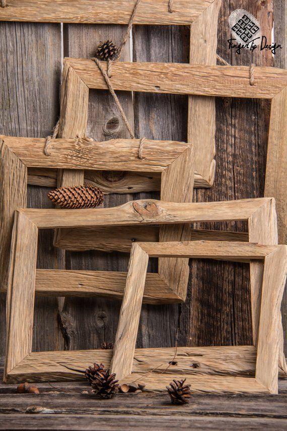 Handgefertigte aufgearbeiteten Holz Bilderrahmen (in der Sonne getrocknet)