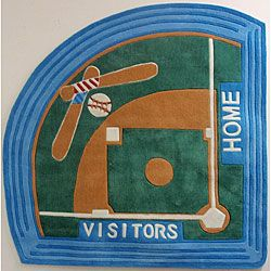 Baseball Field Rug 5 Diamond A Little Young For E But It Sure Is Cute