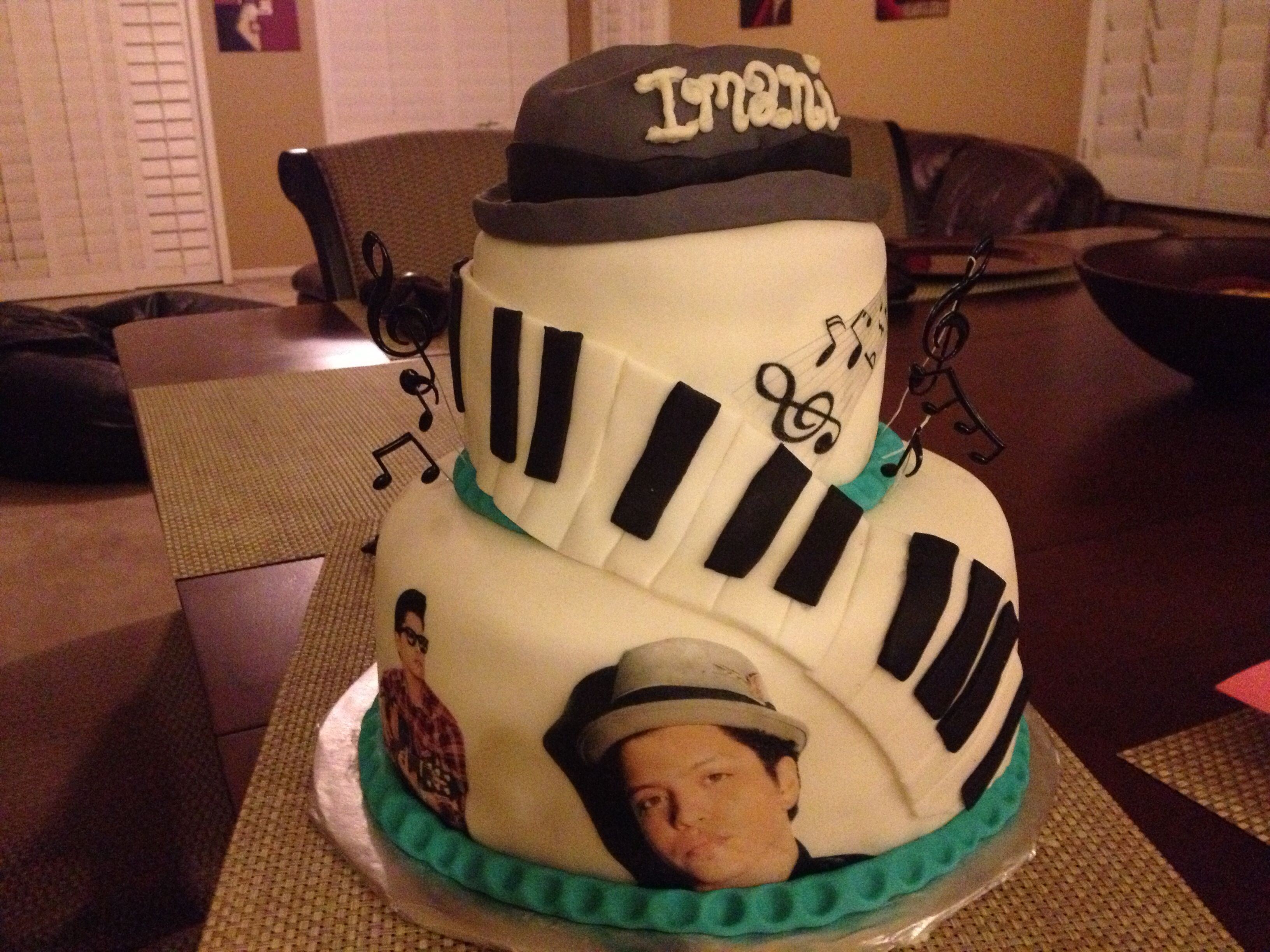Bruno Mars cake | Girl birthday cakes | Bruno mars birthday ...