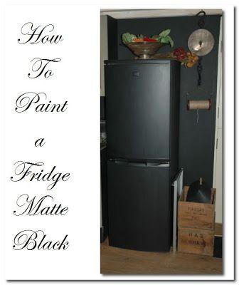 How To Paint A Fridge Matte Black Matte Black Kitchen Black Kitchen Paint Black Fridges