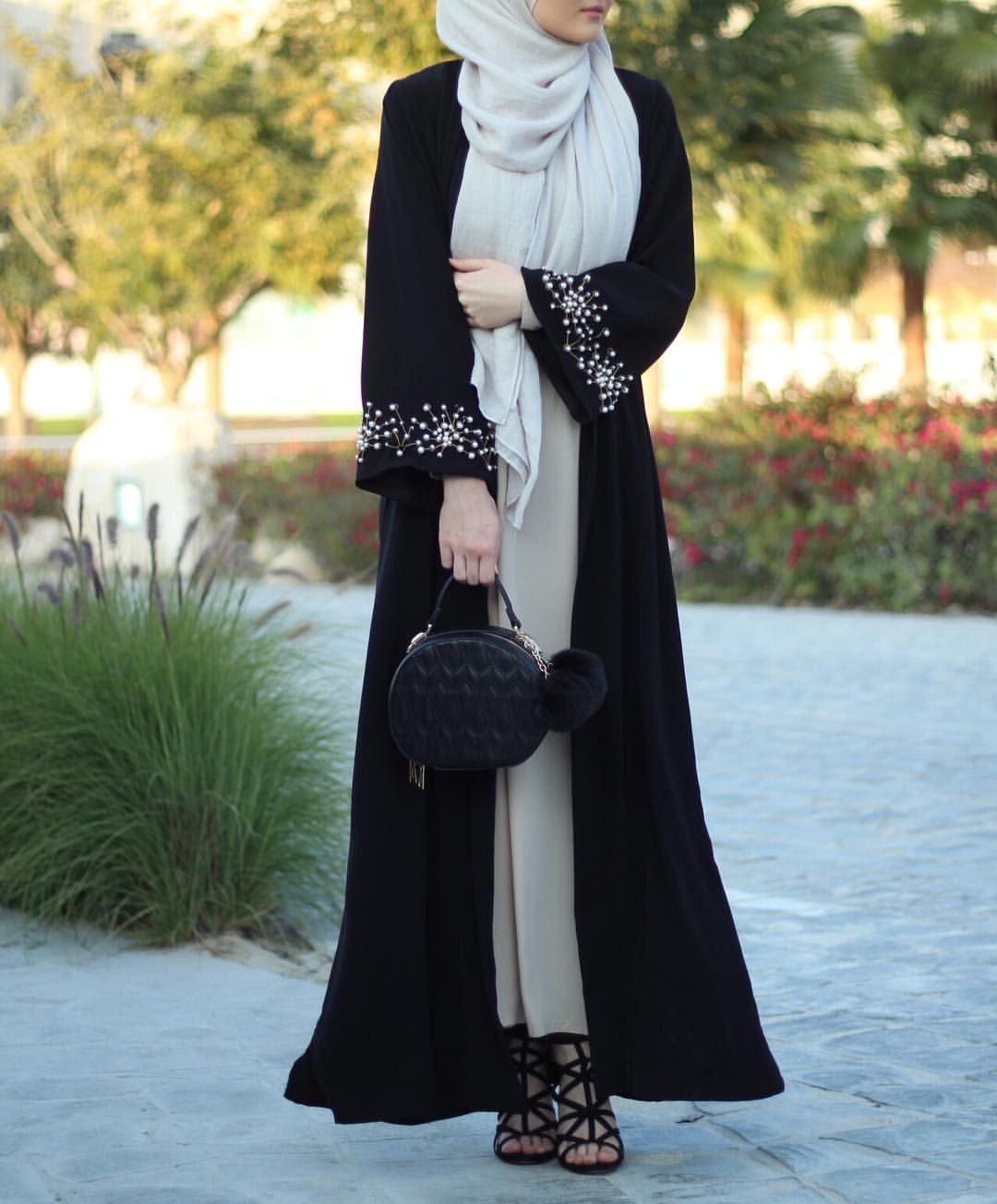 Hijab hijabfashion abaya style pinterest kimonos abayas and