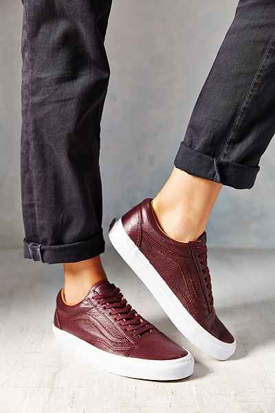 vans old skool leather damen