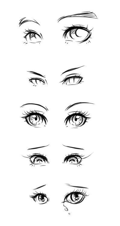 Eyes Drawing Examples 3 Anime Drawings Anime Eyes Sketches