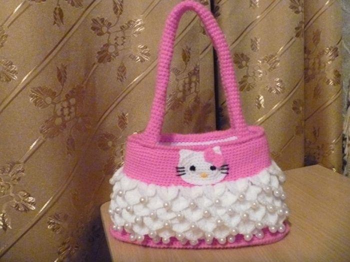 Crochet Hello Kitty Purse Pattern Hello Kitty Bag Free Crochet