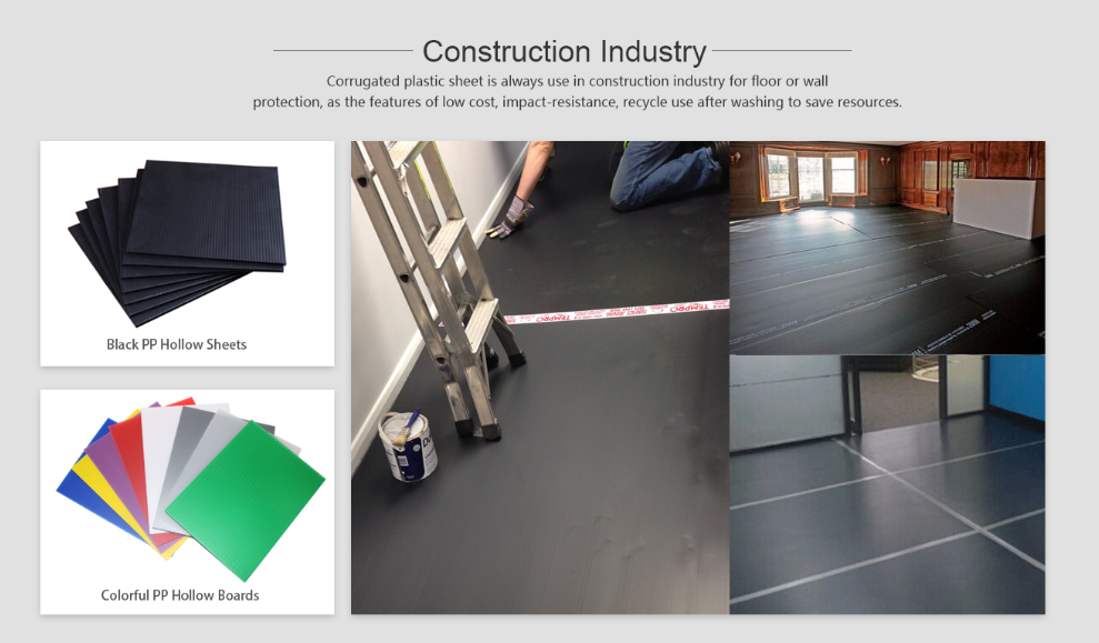 Corrugated Plastic Sheet Is Always Use In Construction Industry For Floor Or Wall Protection As T Corrugated Plastic Sheets Plastic Sheets Corrugated Plastic