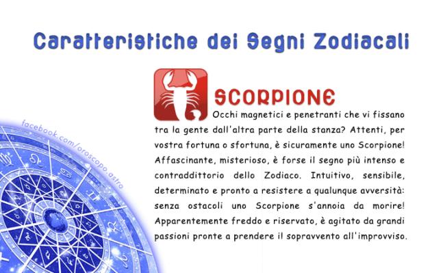 Caratteristiche Dei Segni Zodiacali Luigi Zodiac Scorpion E Luigi