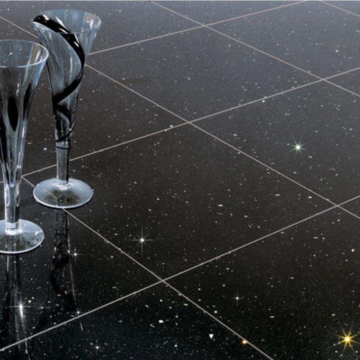 Crown Tiles 30x30cm Quartz Star Stone Black Wall And Floor Tiles