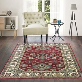 United Weavers Of America Royalton Red Indoor Oriental Runner Common 2 X 20 Actual 3 Ft W X 20 Ft L X 20 Ft Dia 853 Products In 2019 Area Rugs Rugs Area Rug Sizes
