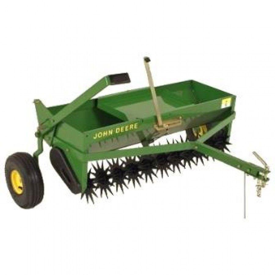 John Deere Spreaders Lawn Tractor : In tow behind aerator spreader rungreen hydro