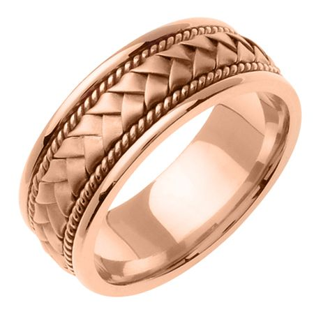 mens rose gold wedding rings mens 14k pink rose gold wedding band ring beverlydiamonds - Mens Rose Gold Wedding Rings