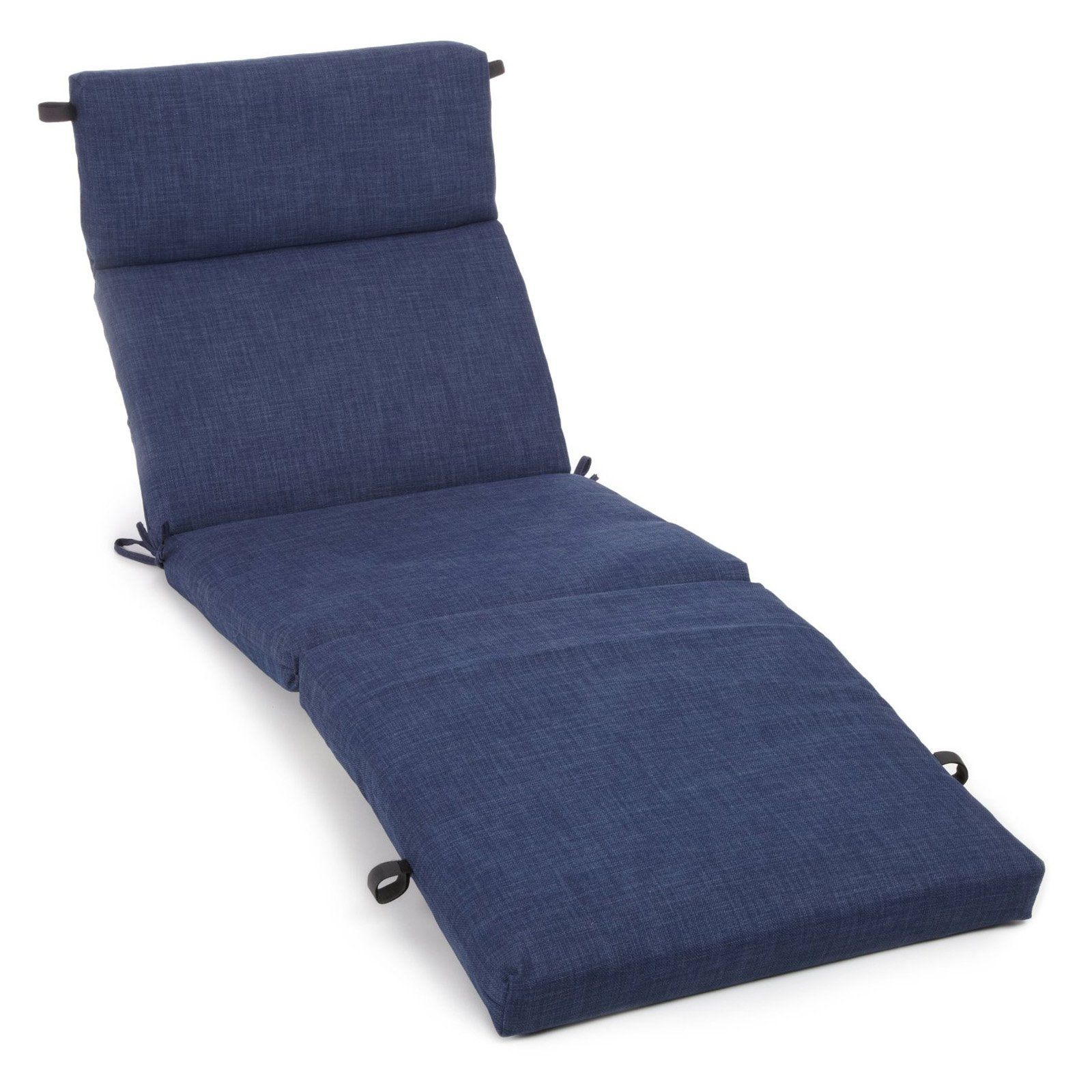 Blazing Needles Outdoor 72 X 22 In Solid Patio Chaise Lounge