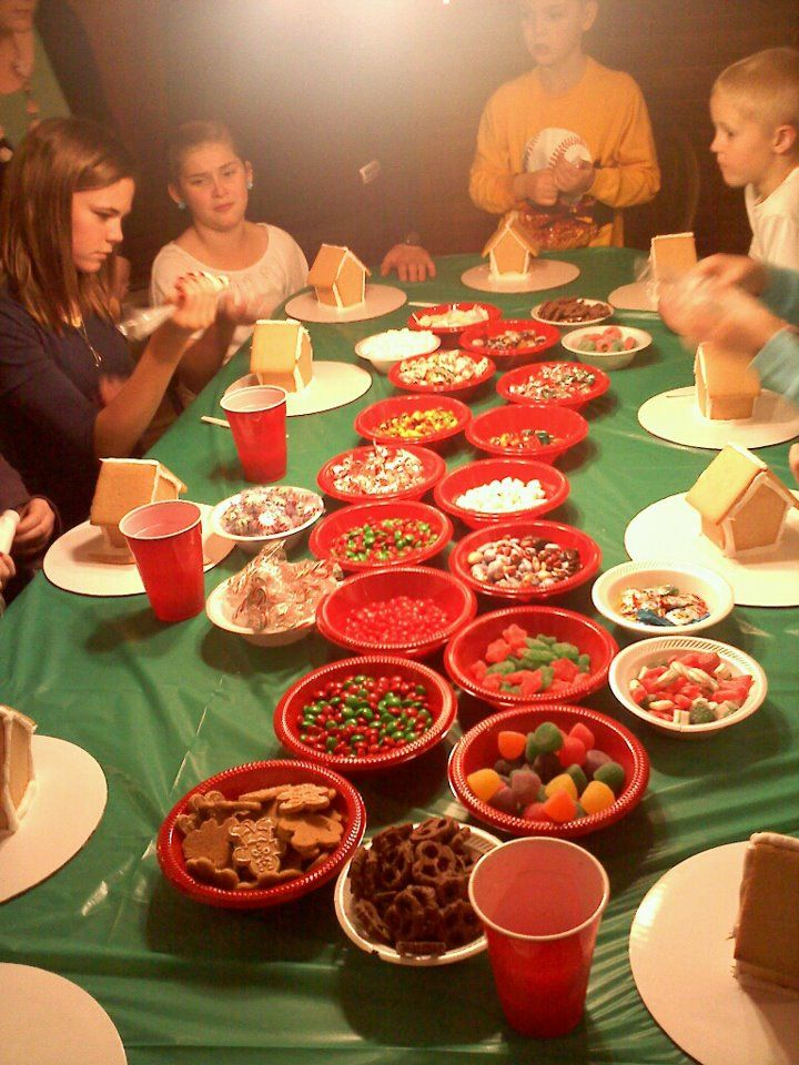 December Birthday Party! every kind of candy for a