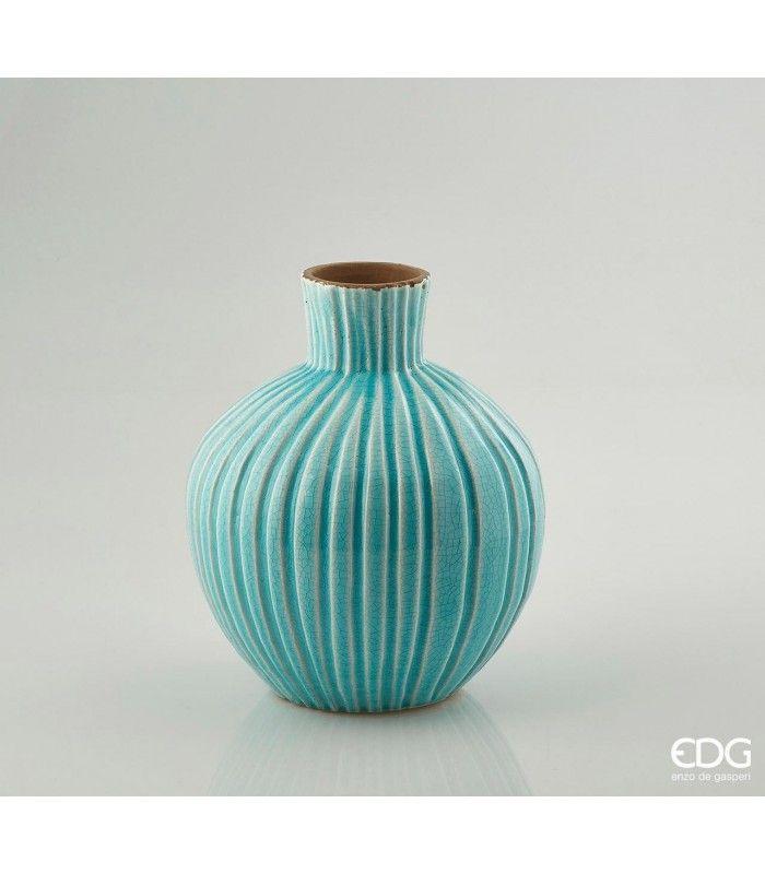 VASO FENICE ORCIO SPICCHI Nudo o vestito di composizioni floreali questo vaso decorativo sara' perfetto per aggiungere stile agli ambienti che più amate