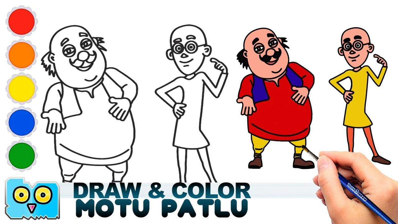 Motu patlu drawing and coloring cartooning in 2019 cartoon