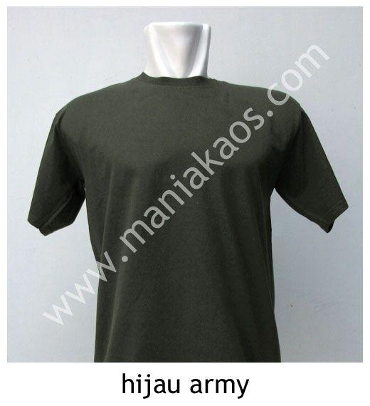 Kaos O-neck Lengan Pendek Hijau Army.
