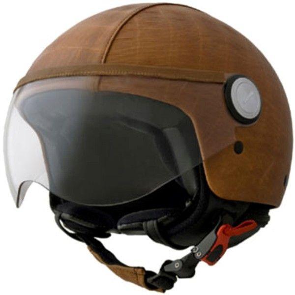 Motorcycle Cruiser Bike Open Face Scooter Vintage Black Helmet Leather ECE h44