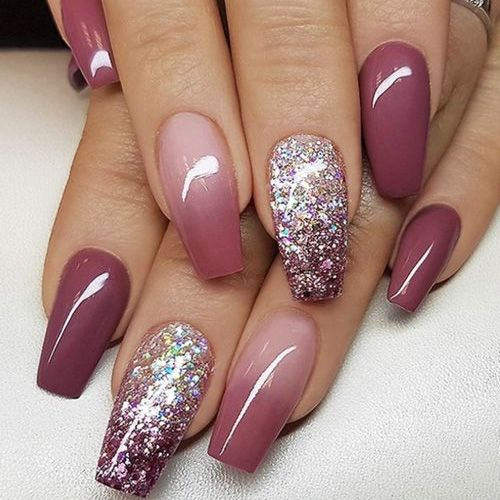 50 Best Fall Acrylic Nails For 2018 Coffin Nails Designs Simple Fall Nails Wine Nails