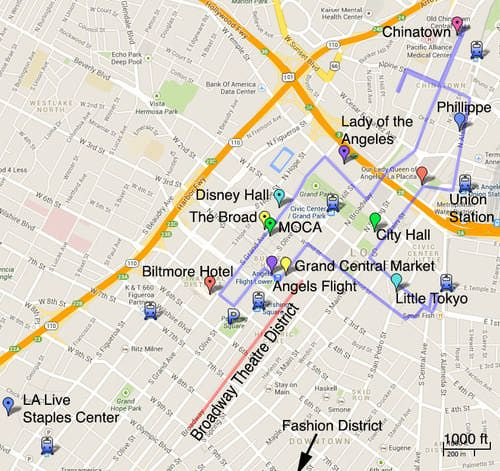 Downtown Los Angeles Tour Downtown los angeles Los angeles and