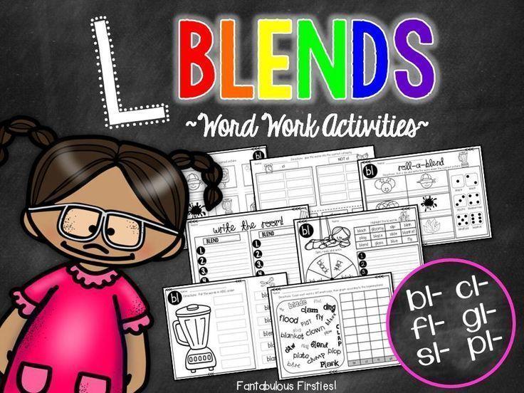 L Blends Word Work Activities | 1ST GRADE | Pinterest