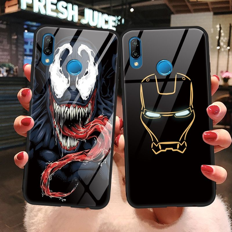 Avengers Marvel Tempered Glass Case For Huawei P20 P30 Mate 30 20 ...