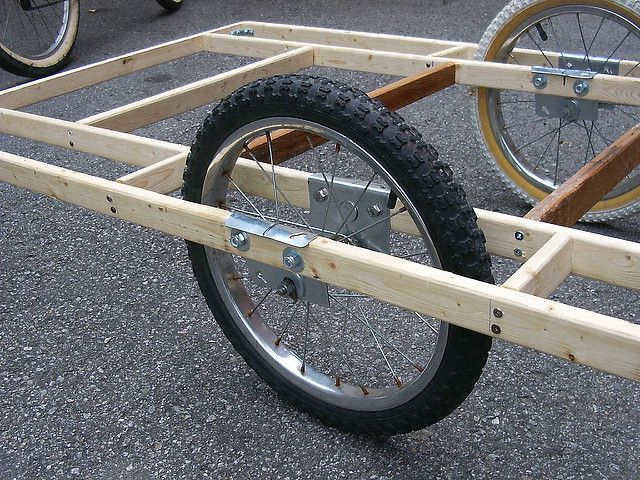Homebuilt Bicycle Trailer 2 Bicycling Woodworking And