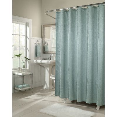 Three Posts Malone Shower Curtain Color Peacock Fabric Shower