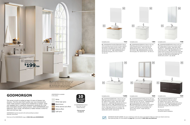 GODMORGON COMBINATIONS - IKEA Bathroom Brochure 9  Cottage