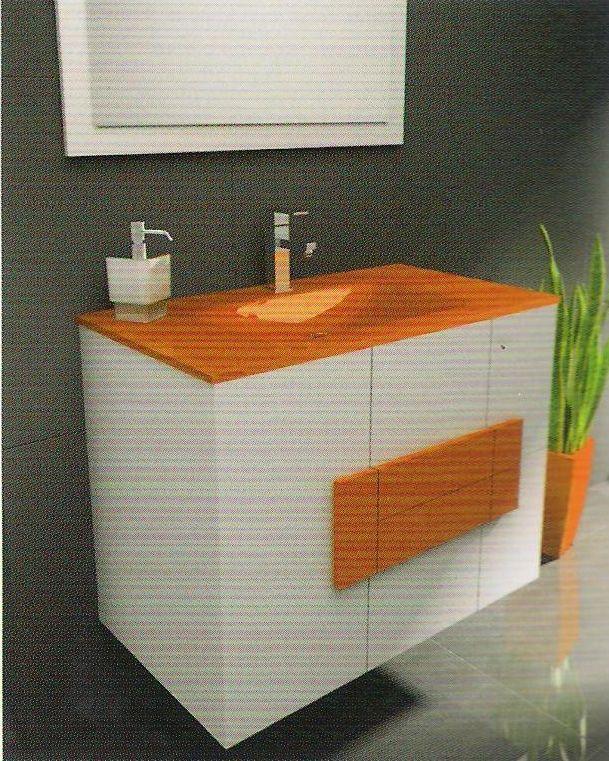 Mueble De Bano Suspendido Modelo Albacete 80 Cm Jrsik Fontaneria