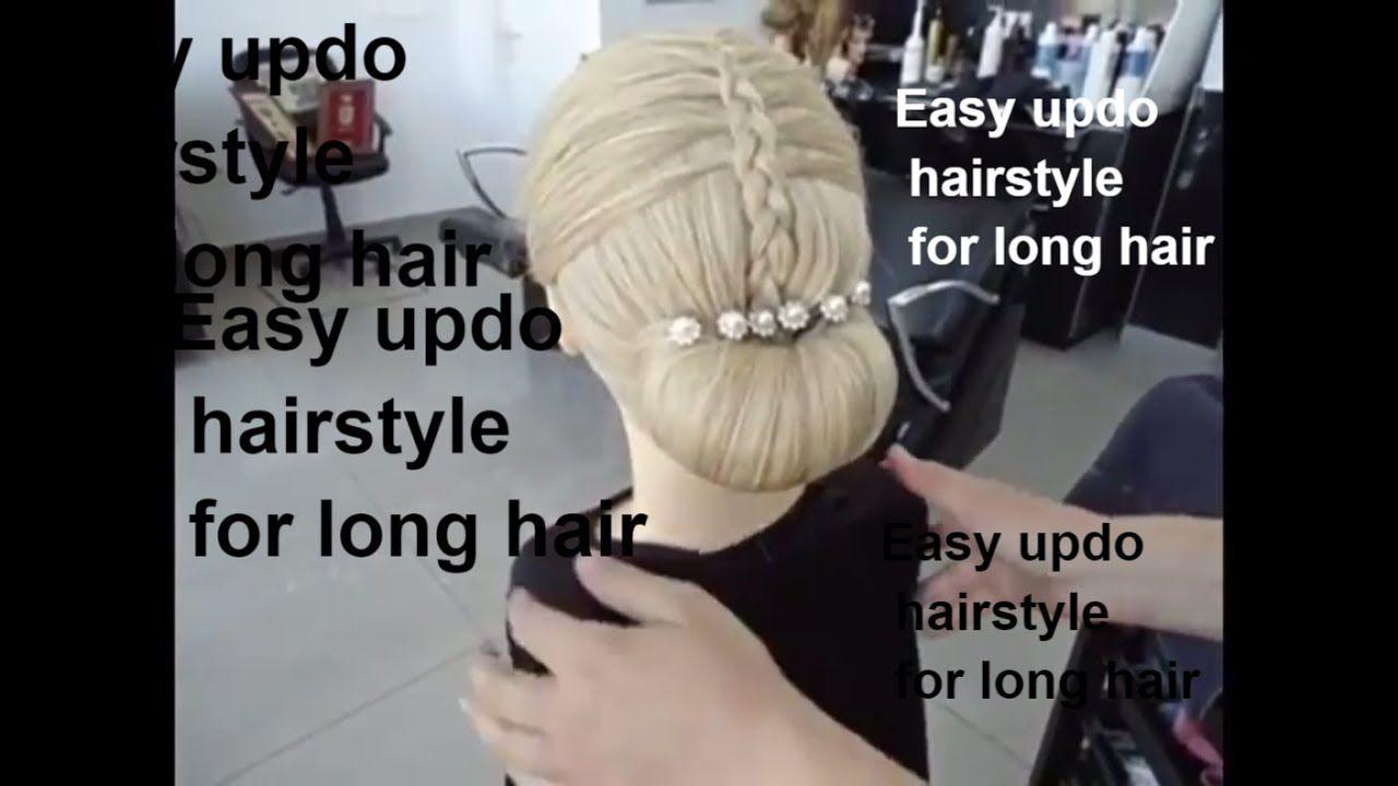Easy updo hairstyle for long hairchignon hairstylebun