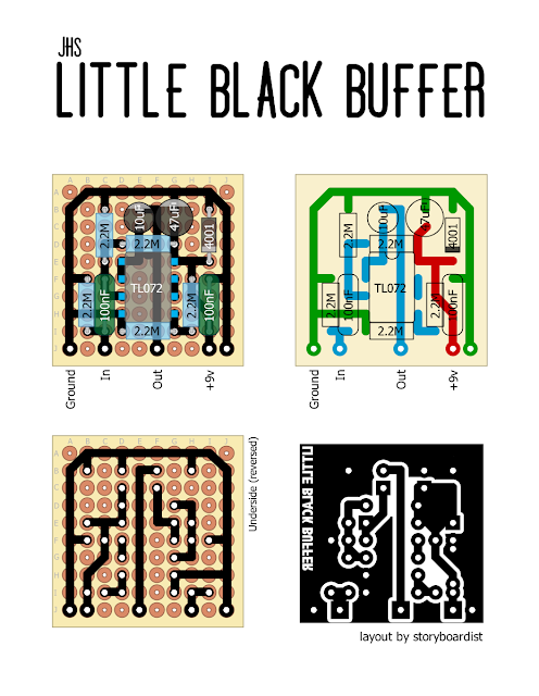 Perf and PCB Effects Layouts: JHS Little Black Buffer   FX