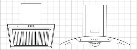 Symbole für Küchenplan Grundriss Baupläne Bau