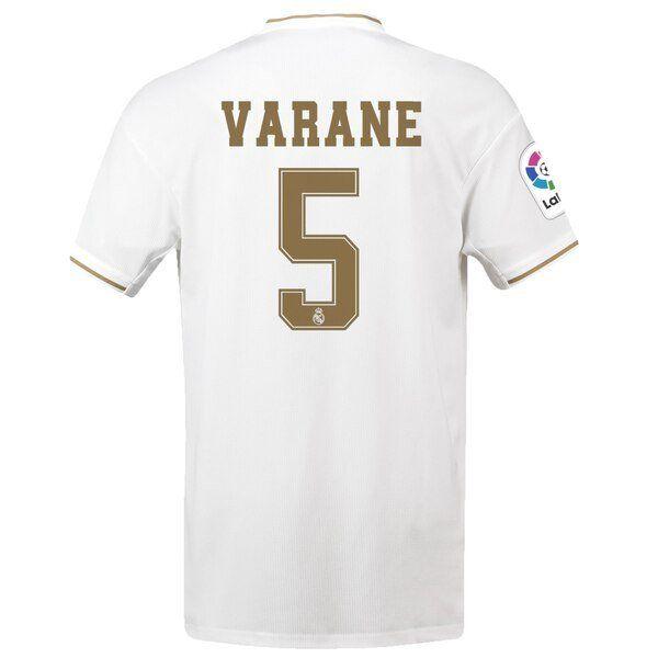 on sale 7401f a59d5 Raphaël Varane #5 Real Madrid 2019/2020 Home SOCCER Jersey ...