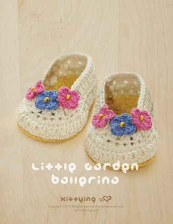 Little Garden Ballerina Baby Booties Preemie Socks Kittying Crochet Pattern by from