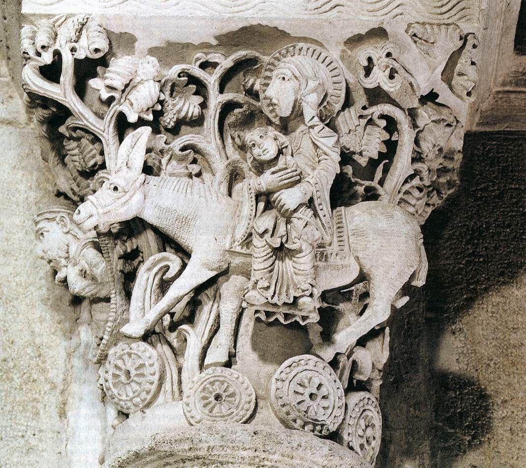 Capital c. 1150 Stone Saint-Andoche, Saulieu