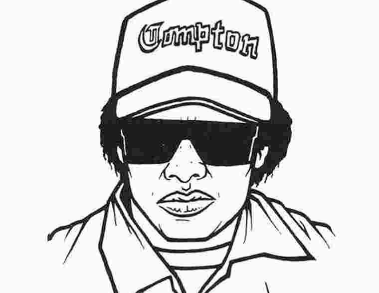 Eazy E Coloring Pages Looks Style Colorir