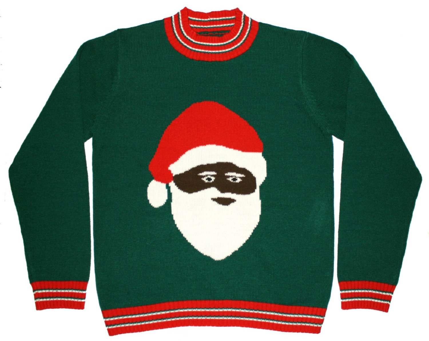 African American Santa Sweater Moes Intrests Christmas Sweaters