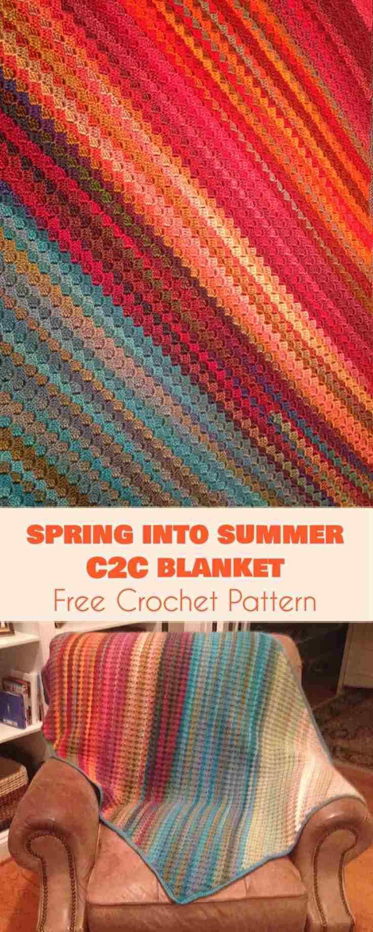 Spring into Summer C2C Baby Blanket [Free Crochet Pattern] | Free ...