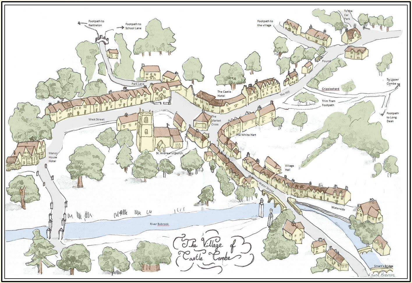 Castle Combe Map Castle Combe Village Website Oh To Be In