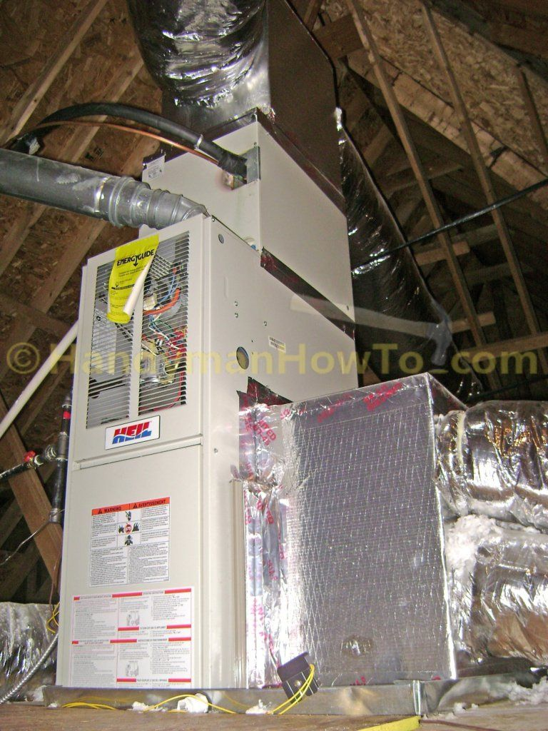 Attic Air Handler Ready For Summer Clean Air Conditioner Air Handler Air Handler Unit