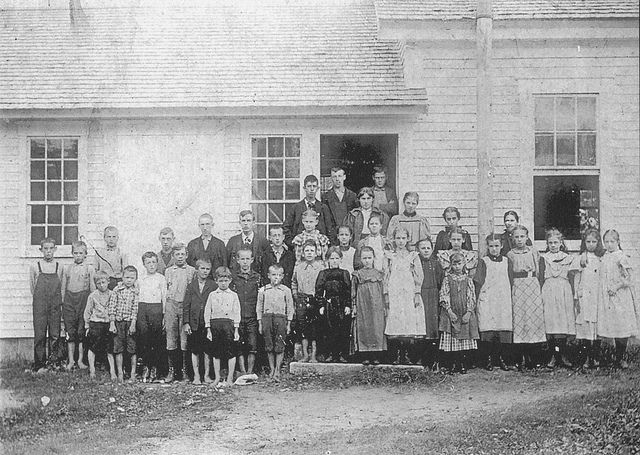 Brooksville School  Rural school in Brooksville, about 1898. From Images of America:  Brooksville (h171).