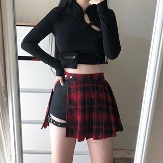 Women's Goth Side Lacing Double zipper Hot Shorts - Punk Design