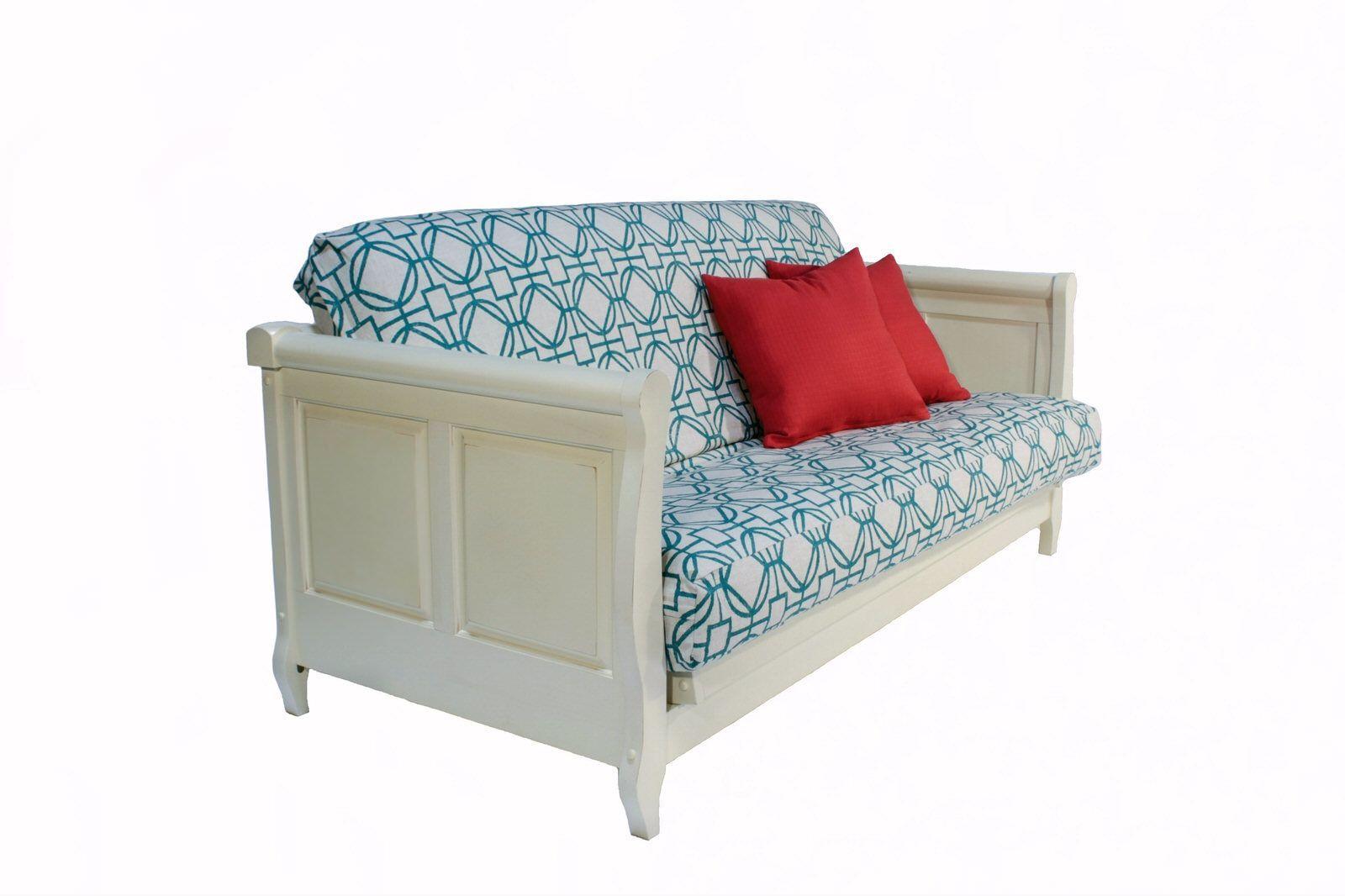 Adriana White Wall Hugger Futon Frame Futon Mattress Upscale Furniture