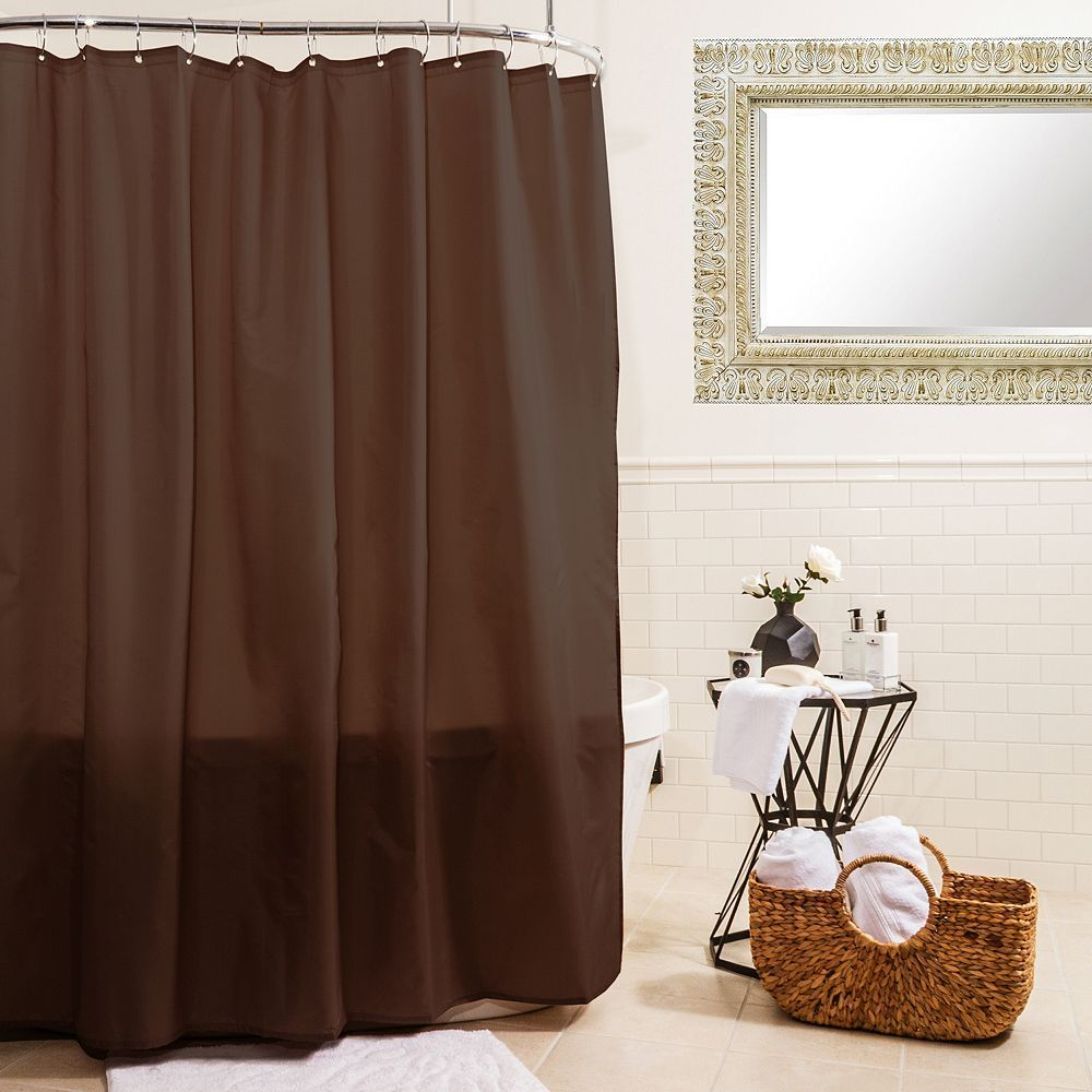 Splash Home Fabric Shower Curtain Liner Fabric Shower Curtains