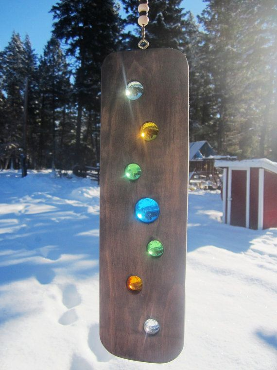 Suncatcher Spinner Wood Art Rustic Modern by BearlyInMontana
