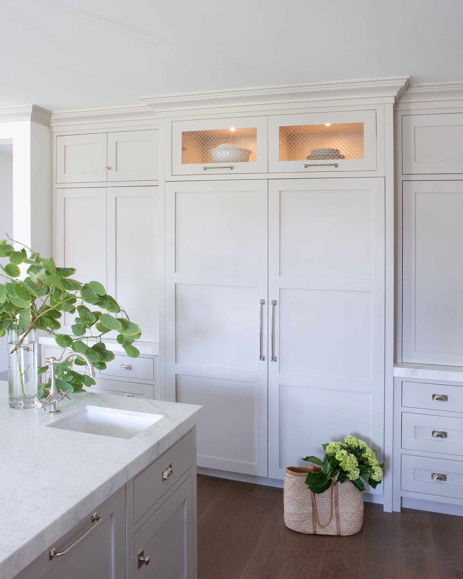 Clean English Tudor | Floor to ceiling cabinets, Kitchen remodel design, Espresso kitchen cabinets