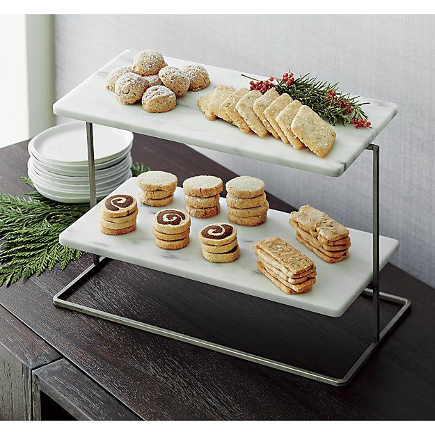 French Kitchen Marble 2 Tier Server Reviews Crate And Barrel Kitchen Marble Tiered Server French Kitchen