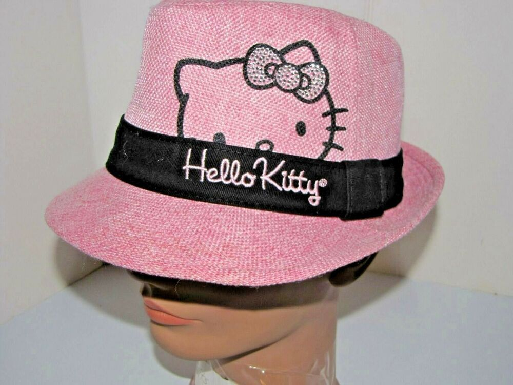 56e93fb87 Sanrio Hello Kitty Girls Fedora Hat Size 4-16 Pink Totally Fun and Flirty!  #HelloKittybySanrio #FedoraTrilby