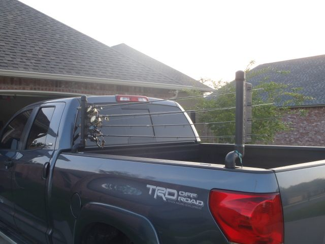 Diy truck bed fishing rod holder step by step for Fishing rod holder for truck